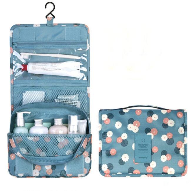 Factory direct sales travel storage bag hanging storage bag cosmetic bag folding portable finishing bag hook washing bag