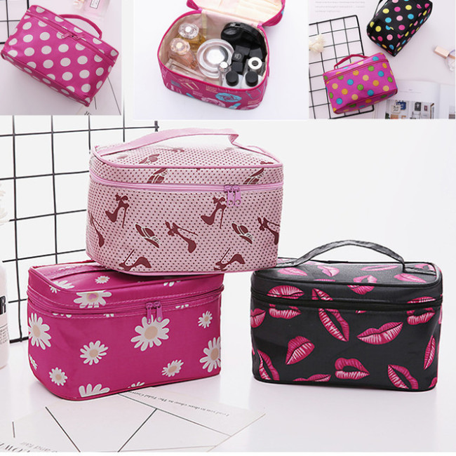 Cosmetic bag hand bag waterproof square cosmetic bag with mirror storage wash bag