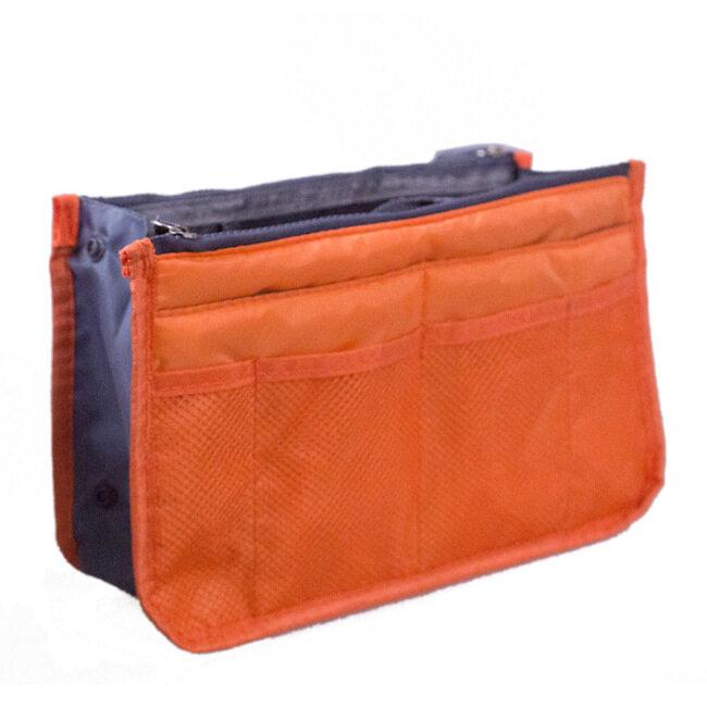 New style Korean double zipper silk cotton bag middle bag storage bag multi function bag medium bag make up bag 16 color wash bag