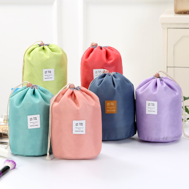 Korea travel large capacity Cosmetic Bag Travel suit wash bag outdoor waterproof storage bag cylinder wash bag