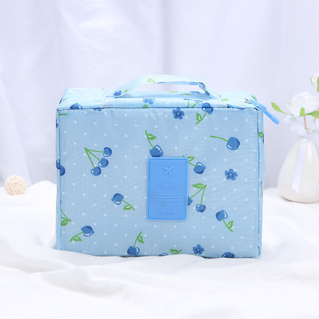 Korean version of multi-functional nylon portable cosmetic bag large capacity toiletries storage bag travel storage bag wholesale