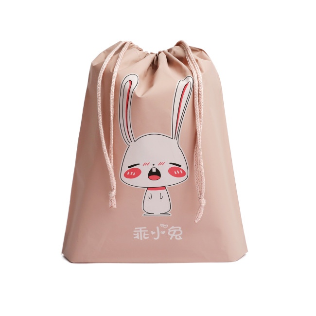 T object waterproof travel storage bag cartoon bundle pocket drawstring clothing storage bag travel separate packing and finishing bag