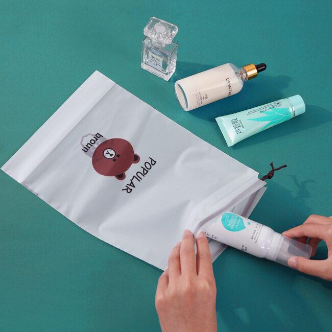 Bundle pocket frosted cartoon drawstring bag waterproof shoe bag cosmetic shoe bag clothes travel storage bag customized
