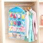 16 grid clothes, socks, underwear storage, hanging bag, closet, small things, wall, door, pocket, sorting bag