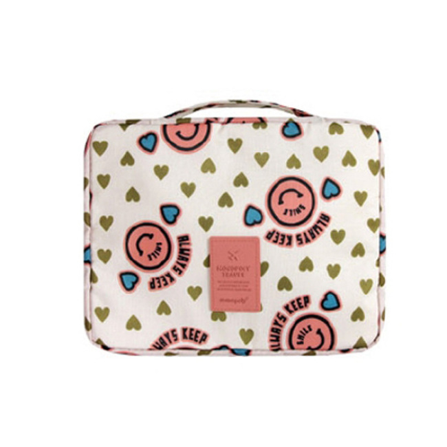 Multi functional travel storage bag waterproof Oxford cloth washing bag portable double layer women's cosmetic bag customization
