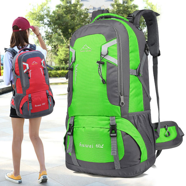 Cross border special for outdoor backpacking sports tourism 60l40l mountaineering bag male backpack female travel bag wholesale customized