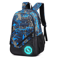 Popular three piece Plaid backpack for male students