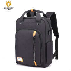Golden wolf new men's bag multi functional large capacity backpack Backpack Travel College Students' schoolbag