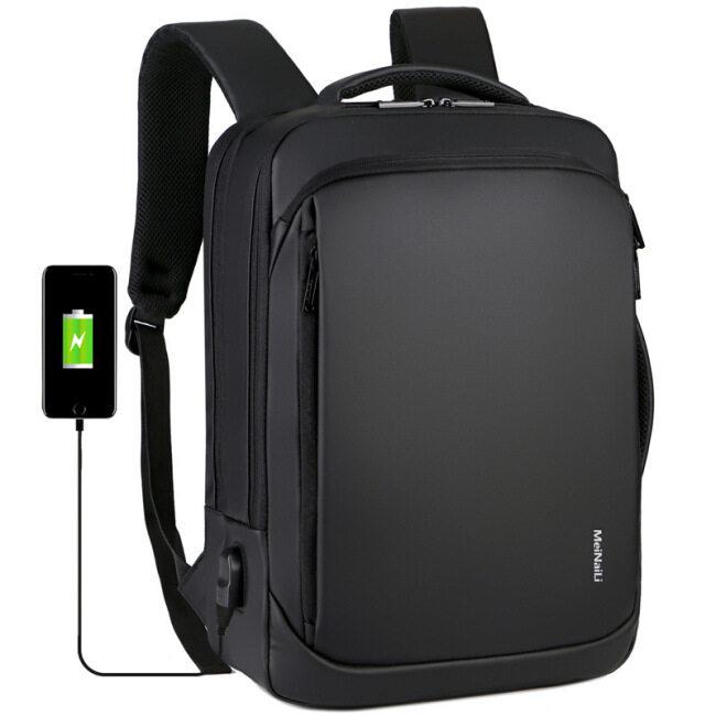 2020 cross border new men's backpack customized waterproof nylon business travel multifunctional USB computer backpack