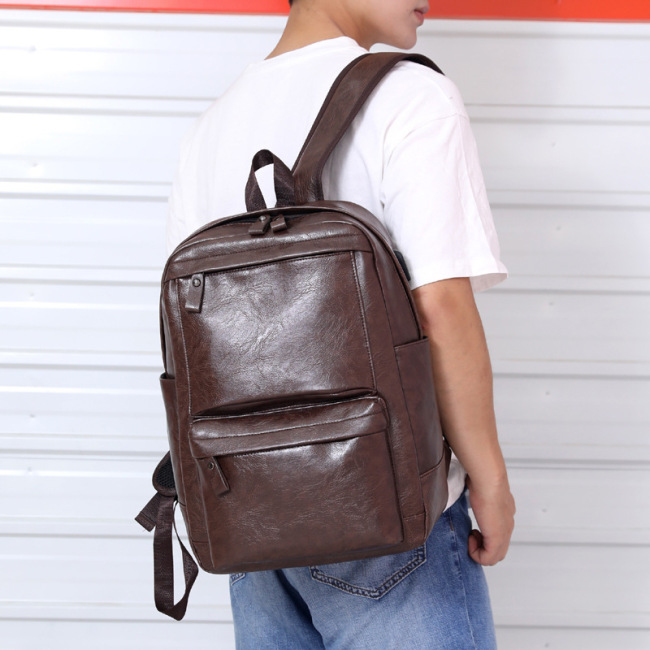 Men's bag 2020 new business men's bag foreign trade backpack computer bag retro schoolbag customized men's backpack