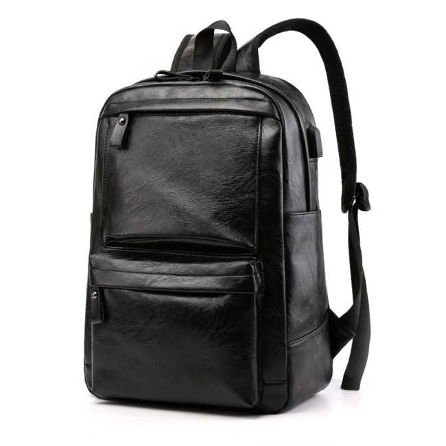 Men's bag 2020 new business men's bag foreign trade backpack computer bag retro schoolbag customized men's backpack