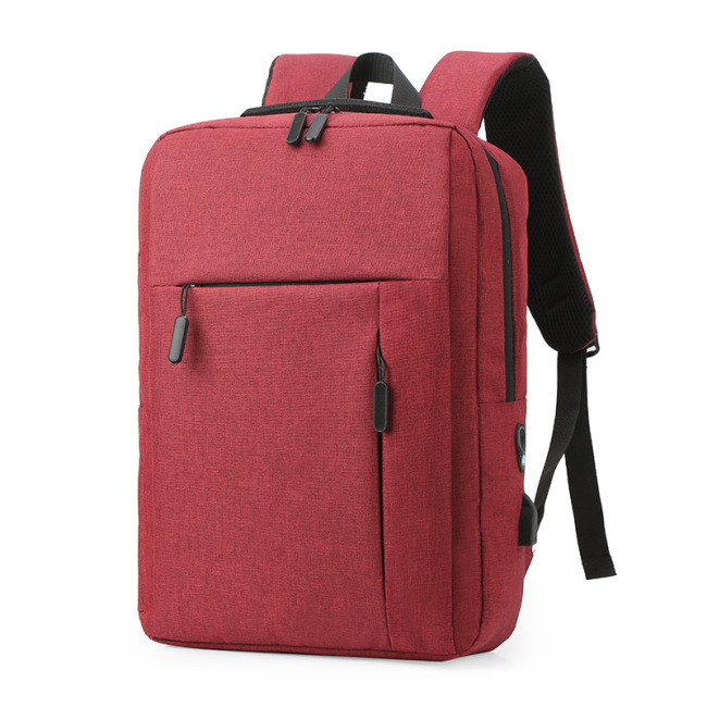 Cross border source logo can be customized USB backpack leisure business men's Bag Notebook Backpack