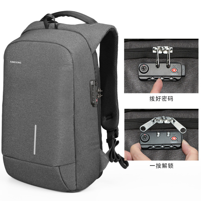 Anti theft creative Nylon Backpack male waterproof USB charging Backpack