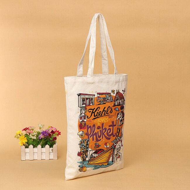 Manufacturer canvas bag customized digital printing animation portable cotton bag shoulder bag shopping bag customized logo