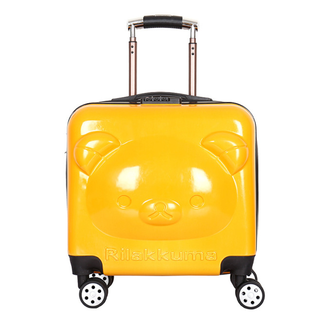 New cartoon board case children's Trolley Case cute big eye 18 inch suitcase