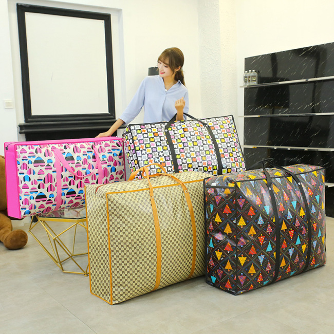 Thickened extra large non-woven moving bag quilt storage waterproof luggage bag portable folding travel bag packing bag
