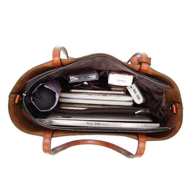 New European and American women's bag European and American cross border Leather Case Bag Fashion Handbag Single Shoulder Messenger Bag