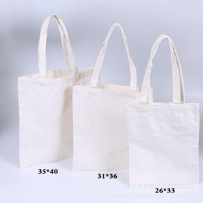 Factory spot advertisement environmental protection canvas portable shopping bag cotton bag customized color canvas bag custom printed logo