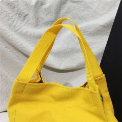 Color original Canvas Handbag women's straddle art leisure small bag Korean version small fresh one shoulder small handbag