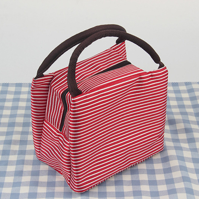 Fashionable stripe insulation bag thickened aluminum foil Lunch Bag