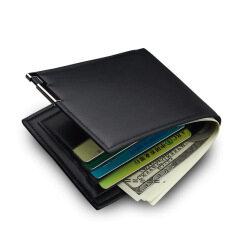 Cross border hot new men's short wallet iron edge Korean youth men's horizontal wallet fashion card bag wholesale