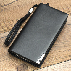 Baellerry men's Long Wallet multifunctional zipper hand bag