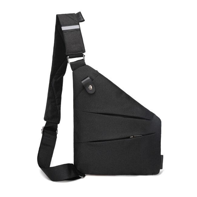 Fashion casual Gun Bag men's messenger bag storage simple chest bag fashion fit Oxford cloth chest bag wholesale