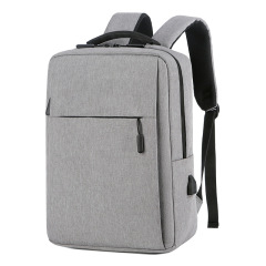Wholesale men and women computer backpack leisure business simple 15.6 inch gift backpack conference bag custom logo