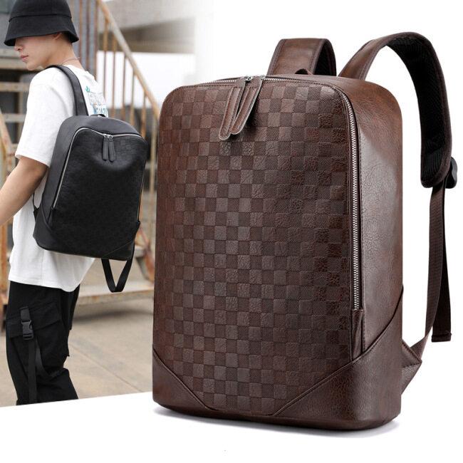 Manufacturer wholesale men's backpack student schoolbag trend leisure large capacity computer bag double shoulder bag men's Travel Backpack