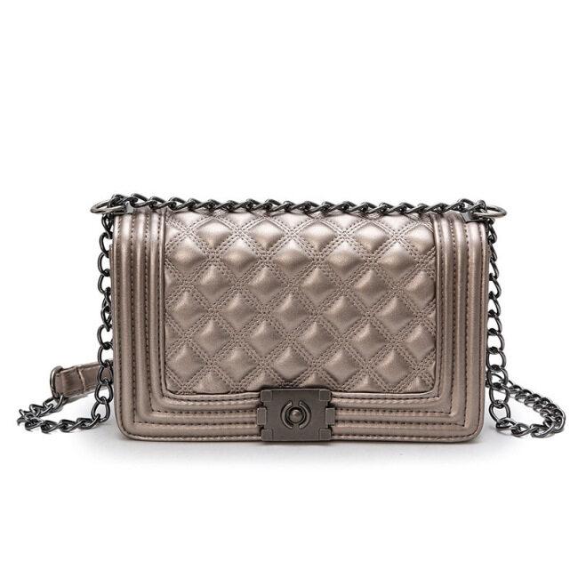 Shoulder Messenger women's bag personality Lingge chain small fragrance fashion versatile small square bag