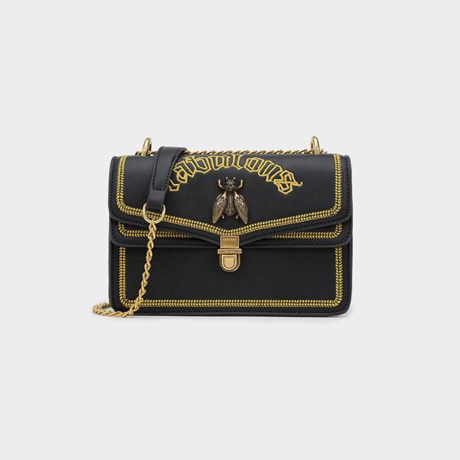 Messenger Bag Thai bee bag fashion women's bag small square bag embroidery bag