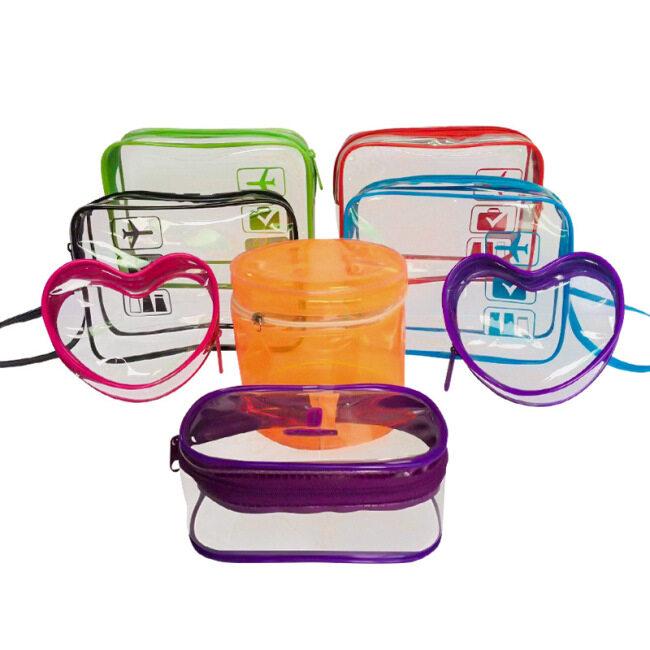 PVC cosmetic bag waterproof transparent hand washing bag zipper plastic storage bag lazy Travel Cosmetic Bag