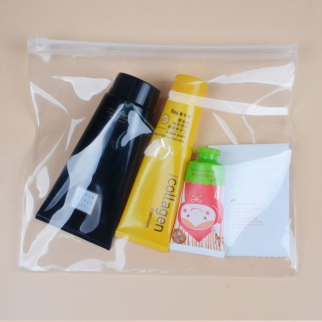 Wholesale PVC zipper bags EVA underwear bags transparent cosmetics packaging bags plastic storage pencil bags