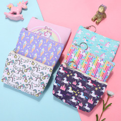 Cute creative zero wallet customized cartoon Unicorn children's bag earphone key coin bag women's wallet