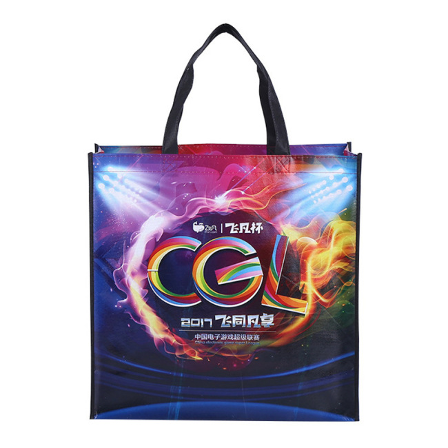 Manufacturer customized non-woven bag environmental protection clothing handbag covered plastic shopping bag customized non woven bag logo