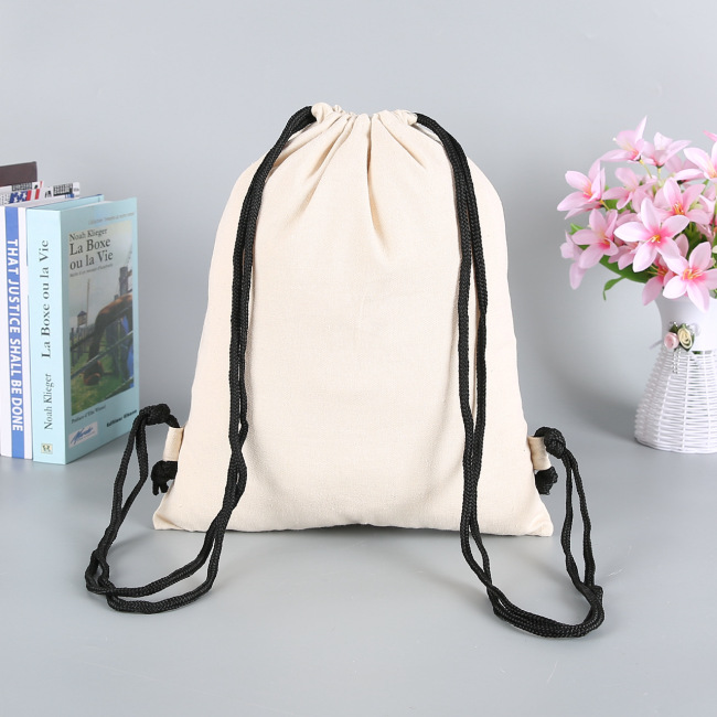 Custom environmental protection canvas bag cotton bag drawstring bag