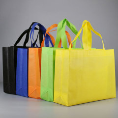 Spot non-woven bag customized logo clothing handbag customized training print advertising green bag shopping bag manufacturers