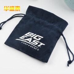 Customized flannel bundle pocket custom made velvet Drawstring Jewelry Bag Drawstring flocking cloth bag manufacturer wholesale