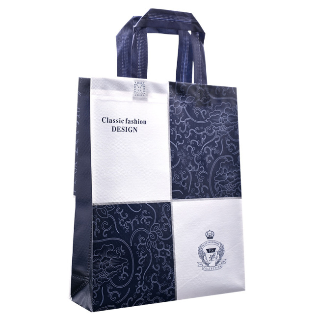 Custom coated non-woven bag hand bag hot pressing three-dimensional bag customized environmental protection bag advertising bag logo