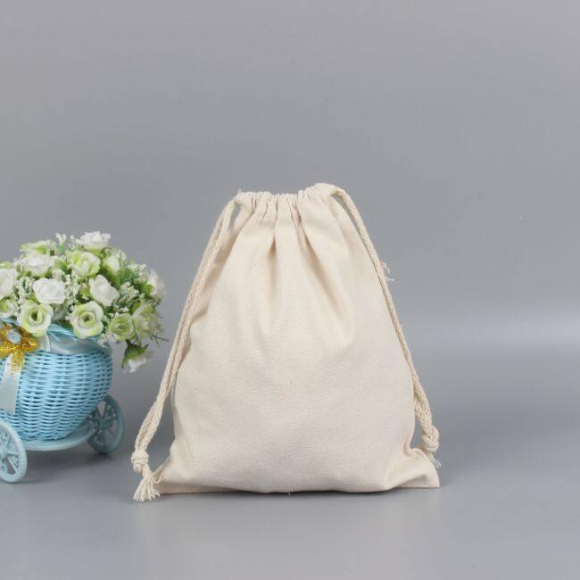 Factory customized drawstring bag blank canvas bag logo environmental protection drawstring bag printing canvas bag