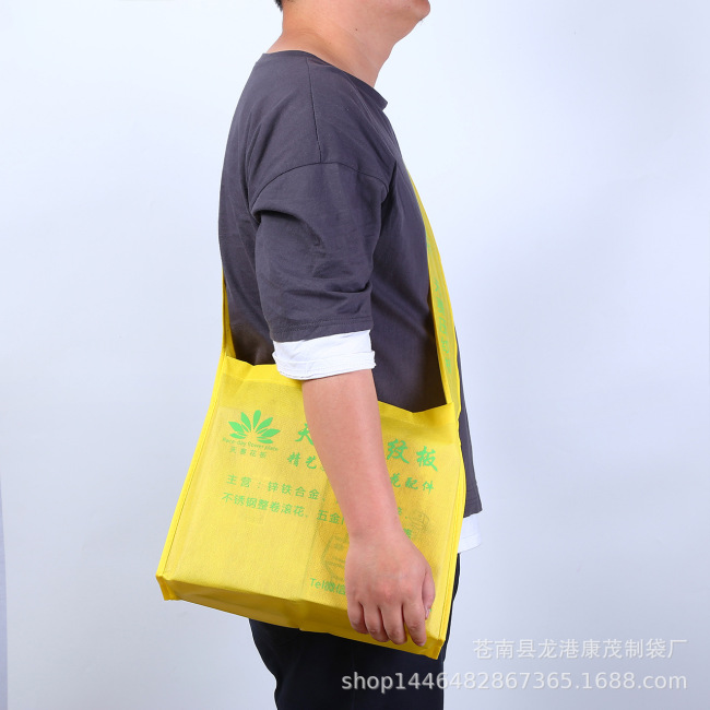 Exhibition non-woven Backpack Bag customized messenger single shoulder bag coated non-woven bag advertising shopping bag customized