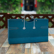 Double red wine bag / blue