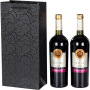 Black UV pattern wine paper bag single and double bag cigarette bag red wine thickened gift bag
