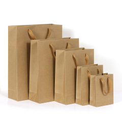 Spot wholesale thickened kraft paper bag customized clothing gift packaging bag shopping kraft paper bag manufacturers