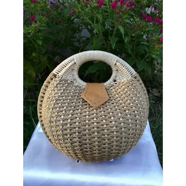 New straw woven bag rattan Beach Women's handbag