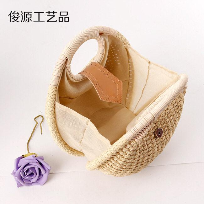 2019 new straw woven bag rattan Beach Women's handbag supply wholesale manufacturers direct supply