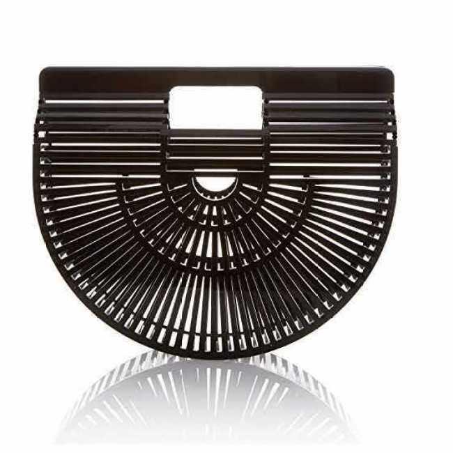 Ins acrylic fashion creative gift beach handbag bamboo woven bag rattan woven woman straw woven bag