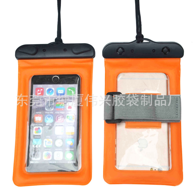 Wholesale sealed mobile phone waterproof bag cover swimming drift debris storage bag foreign trade waterproof bag bag