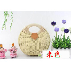 New straw woven bag rattan Beach Women's handbag