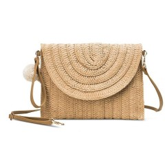New pillow type hand woven bag, hand bag, beach bag, woven and woven women's small square bag